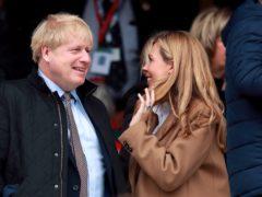 Boris Johnson and partner Carrie Symonds (PA)