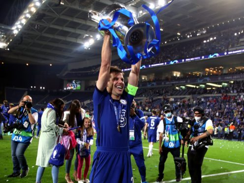 Cesar Azpilicueta, pictured, has revealed the maelstrom of emotions swirling round Chelsea's Champions League triumph (Nick Potts/PA)