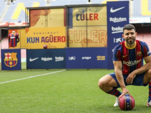 Sergio Aguero is on his way to Barcelona (Joan Monfort/AP)