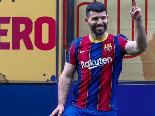New Barcelona signing Sergio Aguero is looking forward to play with Argentina team-mate Lionel Messi (Joan Montfort/AP)