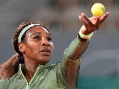 Serena Williams, left, defeated Irina-Camelia Begu, right under the lights (Michel Euler/AP)