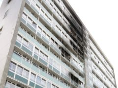 The scene of the fire in Lakanal House in Camberwell, south London (Carl Court/PA)