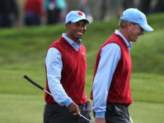 Ryder Cup captain Steve Stricker (right) would like Tiger Woods as a vice-captain in September (David Davies/PA)