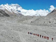 Climbers approach Everest (AP)