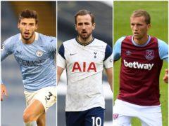Ruben Dias, Harry Kane and Tomas Soucek have all impressed this season (Daniel Leal-Olivas/ Joe Giddens/Martin Rickett/PA