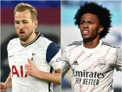 Harry Kane and Willian could leaving north London (Jon Super/ Rui Vieira/PA)
