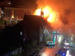 Firefighters have been tackling the blaze in Glasgow (Amy Brown/Twitter/PA)