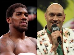 Anthony Joshua and Tyson Fury will meet in the ring on August 14 (PA)