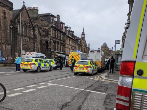 Officers responded to reports that a man had been stabbed on Broomlands Street, Paisley (@njnathan96/PA)
