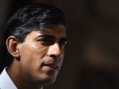 Chancellor Rishi Sunak spoke out against the prospect of a second independence referendum ahead of Thursday's Holyrood election (Andy Buchanan/PA)