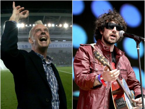 Ed Sheeran follows in the footsteps of Fatboy Slim, left, and Super Furry Animals (Gareth Fuller/Yui Mok/PA)