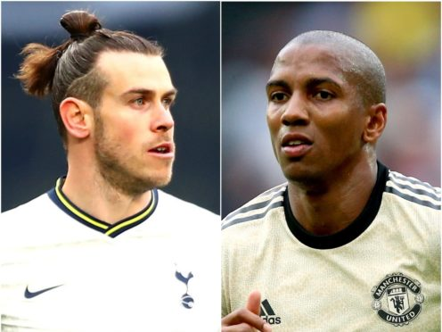 Gareth Bale and Ashley Young (Clive Rose/Nigel French/PA)