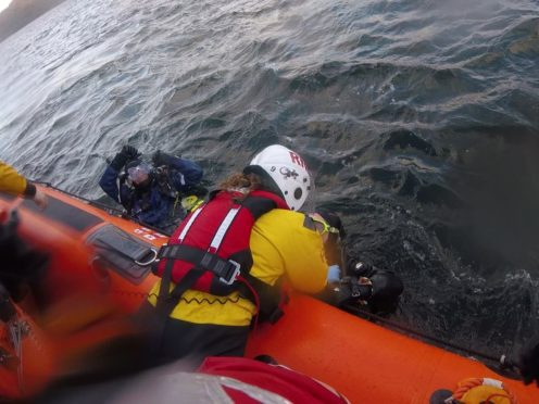 An unrelated rescue image (Kyle RNLI/PA)
