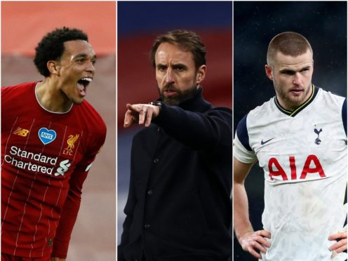 Trent Alexander-Arnold is in Gareth Southgate's England squad but Eric Dier misses out (PA)