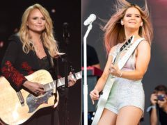 Miranda Lambert, left, and Maren Morris are the leading nominees for the 2021 CMT Music Awards (AP)