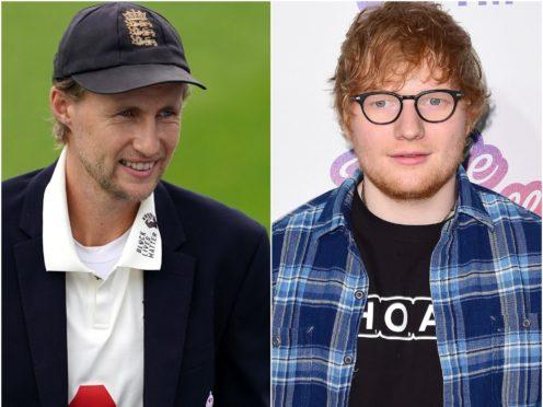Joe Root and Ed Sheeran (Jon Super/Ian West/PA)