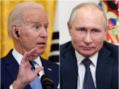 Joe Biden and Vladimir Putin (Alex Brandon/AP/Sergei Ilyin, Sputnik, Kremlin Pool Photo via AP)