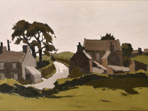 The landscape of Capel Soar in Gwynedd by Sir Kyffin Williams is expected to fetch between £20,000 and £30,000 when it is sold later this month (Parker Fine Art Auctions/PA)