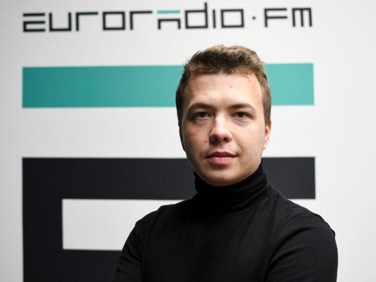Journalist Roman Protasevich (Euroradio via AP)