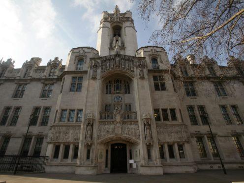 The Supreme Court in central London (Yui Mok/PA)