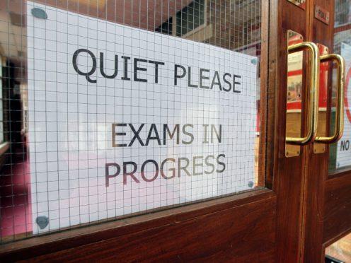 Sign at a school (David Davies/PA)