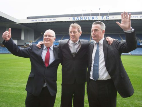 John Gilligan, Dave King and Paul Murray joined forces to oust Mike Ashley from Rangers (Danny Lawson/PA)