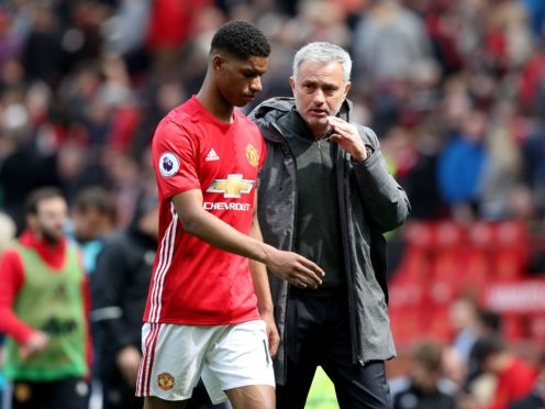 Jose Mourinho left Marcus Rashford out when asked who should start for England on Sunday (Martin Rickett/PA)