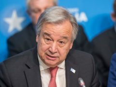 Antonio Guterres has been returned to the post of secretary-general of the United Nations (Jack Hill/The Times/PA)