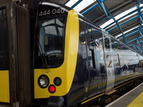 South Western Railway issued a message to customers on Friday (PA)