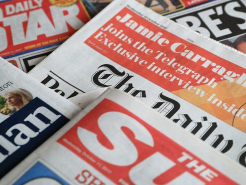 What the papers say – June 9 (Peter Byrne/PA)