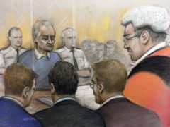 Court artist sketch of Barry Bennell being sentenced by Judge Clement Goldstone QC at Liverpool Crown Court (Elizabeth Cook/PA)