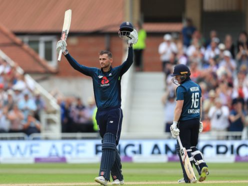 Alex Hales claimed a century in England's run-fest (Mike Egerton/PA)
