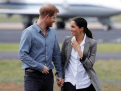 The Duke and Duchess of Sussex are celebrating the birth of their second child (Phil Noble/PA)