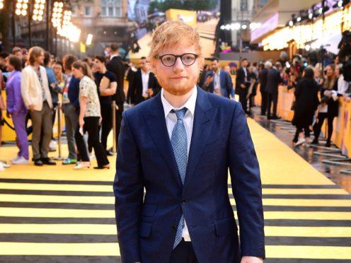 Ed Sheeran stars as a glamorous vampire on a wild night out in the music video for his new single (Ian West/PA)