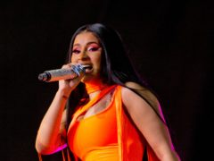 Cardi B revealed she is expecting her second child with husband Offset during a performance at the BET Awards (Isabel Infantes/PA)