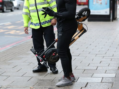 West Midlands Police have launched a month-long operation to tackle e-scooter riders who flout the law (Yui Mok/PA)