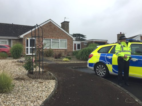 West Mercia Police search a house in Kempsey, Worcestershire (Richard Vernalls/PA)