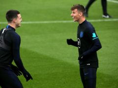 Mason Mount, right, is best friends with England team-mate Declan Rice (Mark Kerton/PA)