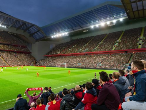 Liverpool's application to redevelop the Anfield Road stand goes before planners next week (Liverpool FC/PA)