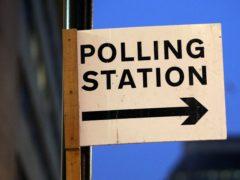 Polling station signage (Jonathan Brady/PA)