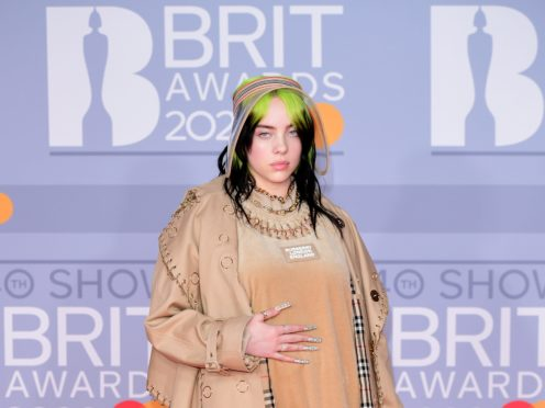 Billie Eilish has apologised after a video surfaced appearing to show her mouthing a racist slur (Ian West/PA)