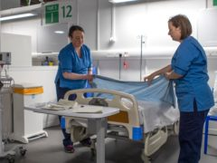 The number of days that hospital beds were occupied by patients cleared to leave has risen by 61% since April 2020 (Jane Barlow/PA)