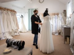 Wedding dress boutique Bridal Reloved in Leicester (PA/Joe Giddens)