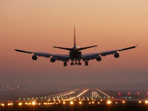 A passenger jet (Gareth Fuller/PA)
