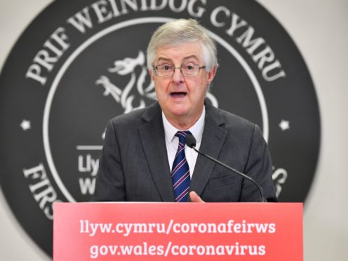 Welsh First Minister Mark Drakeford has warned the UK is at the 'pre-peak stage of a third wave' of coronavirus (Ben Birchall/PA)