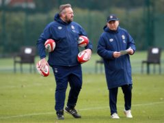 Matt Proudfoot (left) and Eddie Jones (right) are looking at England's next generation of players (PA)