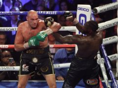 Tyson Fury (left) and Deontay Wilder will come face-to-face again in Las Vegas on July 24 (Bradley Collyer/PA)