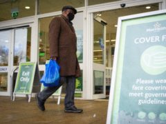 Supermarket stocks were lifted by an approach for Morrisons (Dominic Lipinski/PA)