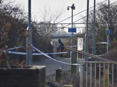 A police cordon near the Diglis footbridge in Worcester after the body of Christina Rowe was found in the River Severn (Matthew Cooper/PA)