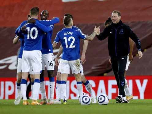 Everton assistant manager Duncan Ferguson, right, has had a big influence on the career of Dominic Calvert-Lewin (Phil Noble/PA)